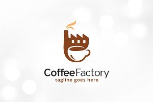 Coffee Factory Logo Template