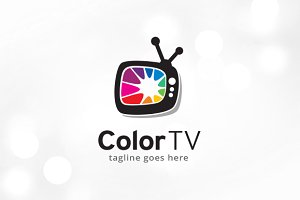 Color TV Logo Template