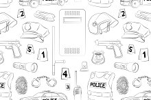 Police. Safety concept pattern