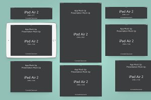 App Presentation Mock Up iPad Air 2