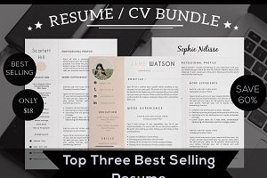 Resume / CV Top 3 Selling