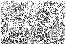 6 unique flowers and mandalas