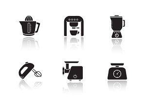 Kitchen electronics icons. Vecto