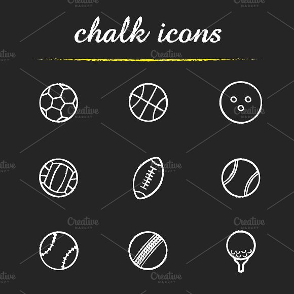 Sport balls icons. Vector - Icons
