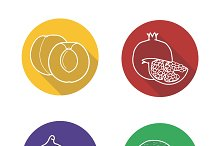 Fruit icons. Vector