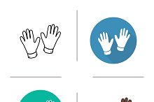 Gloves icons. Vector