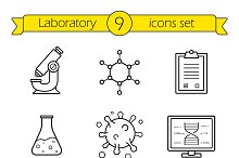 Laboratory equipment icons. Vector
