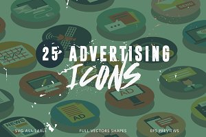25 Advertising Icons Pack