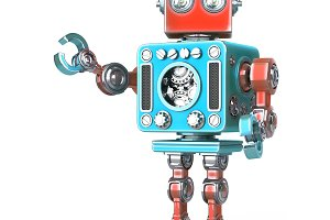 Posing Retro robot