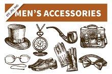 Hand Drawn Men's Accessories Set