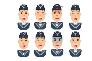 sailors set of emotions