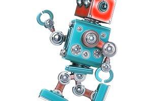 Running Retro Robot.