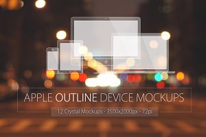 Apple Outline Device Mockups