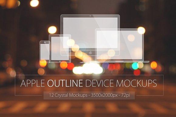 Download Apple Outline Device Mockups