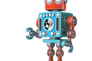 Standing Retro Robot