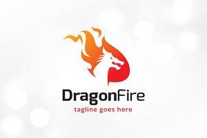 Dragon Fire Logo Template