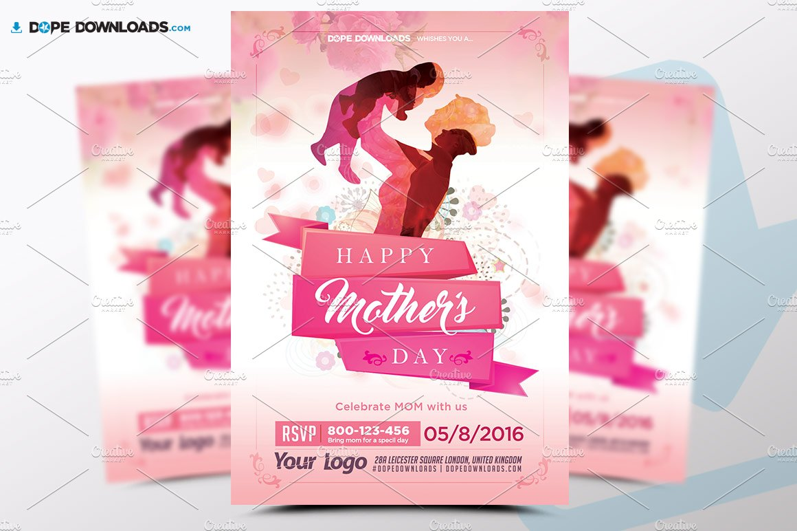 mother s day flyer template flyer templates creative market