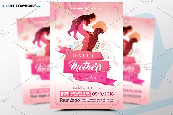 Mothers Day Flyer Template Flyer Templates Creative Market – Mothers Day Flyer
