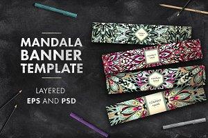 Mandala banner template 02