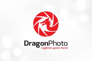 Dragon Photo Logo Template