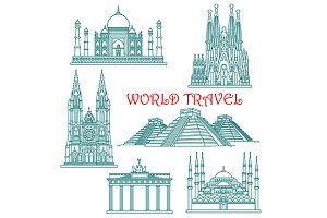 World travel and architecture