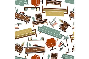 Retro home furniture pattern