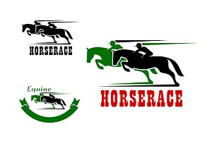 Horse race icons