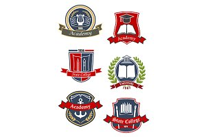Education heraldic emblems