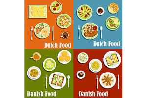 Dutch and danish traditional cuisine