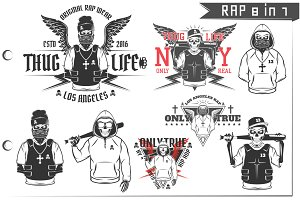 8 in 1 Rap for T shirts and tattoo