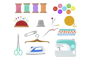 Set of objects for sewing