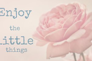 Quote of Enjoy the little things