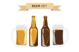 Beer vector set.