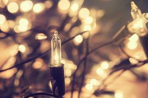 Christmas lights, vintage style