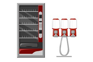 Vending machine vector Illustration