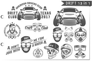 13 in 1 Set of Drift car sport