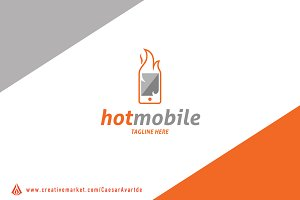Hot Mobile Logo Template