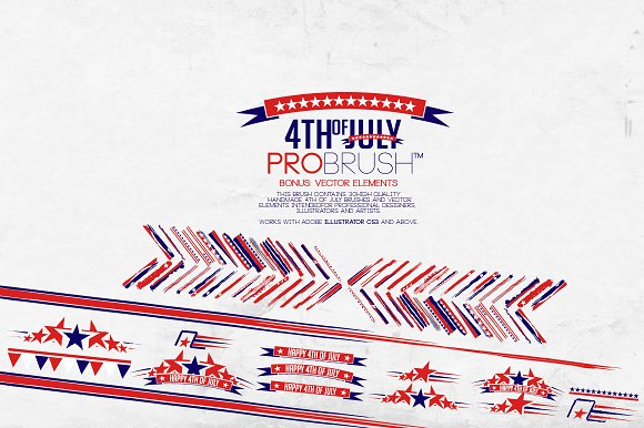 4th Of July - ProBrush™ + Vectors in Photoshop Brushes - product preview 2