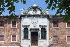 Church facade in Venice