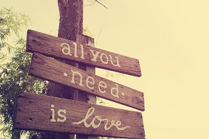 All you need is love, vintage