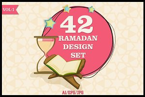 Ramadan Kareem Design Set Vol - 1