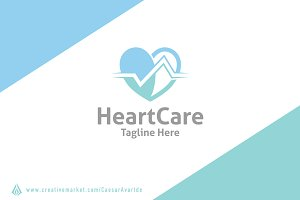 Heart Care Logo Template