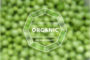 Organic food retro label