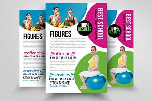 Fitness Body Shape Program Flyers