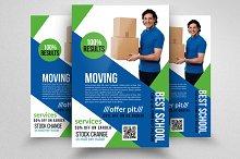 moving house services flyers flyer templates on creative market. Black Bedroom Furniture Sets. Home Design Ideas