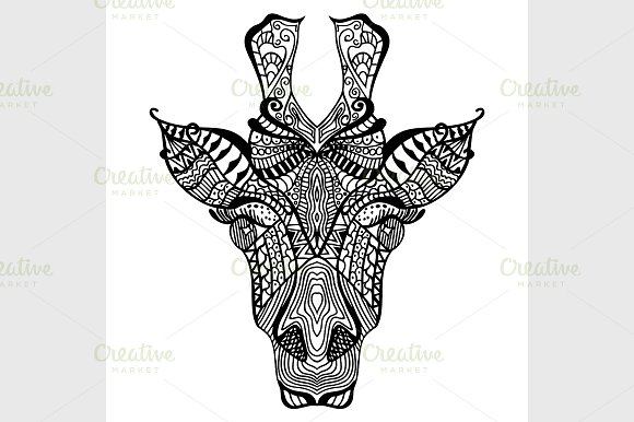 Giraffe. Hand drawn giraffe - Graphics