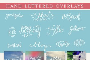 Hand Lettered Photographer Overlays