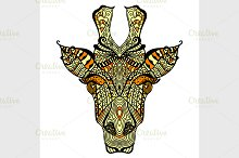 Giraffe. Hand drawn giraffe