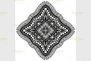 Mandala. Ethnic decorative elements.