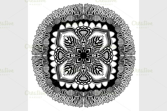 Mandala. Ethnic decorative elements. - Graphics